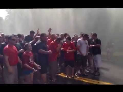 "Tuckahoe Mayor Steve Ecklond's Ice Bucket Challenge plus Tuckahoe PD, Eastchester PD, Bronxville PD, Eastchester FD & EVAC with Pat Quinn in an ALS Ice Bucket Challenge to raise awareness for ALS and support the ""Quinn4theWin"""