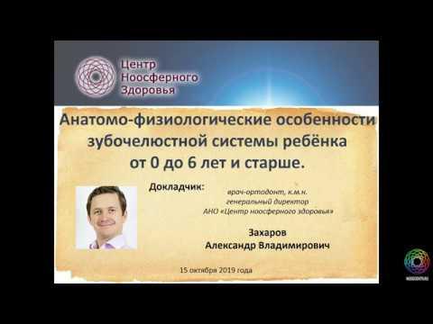 Захаров А.В. Анатомо-физиологические особенности зубочелюстной системы ребёнка