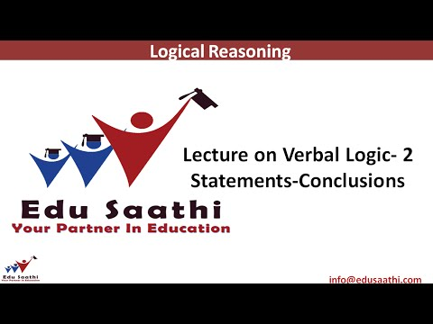 Verbal Ability - 2: Statement & Conclusions | www.edusaathi.com