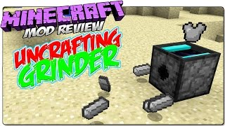 UNCRAFTING GRINDER MOD MINECRAFT 1.8 ESPAÑOL | Descraftea items y bloques | MINECRAFT MODS