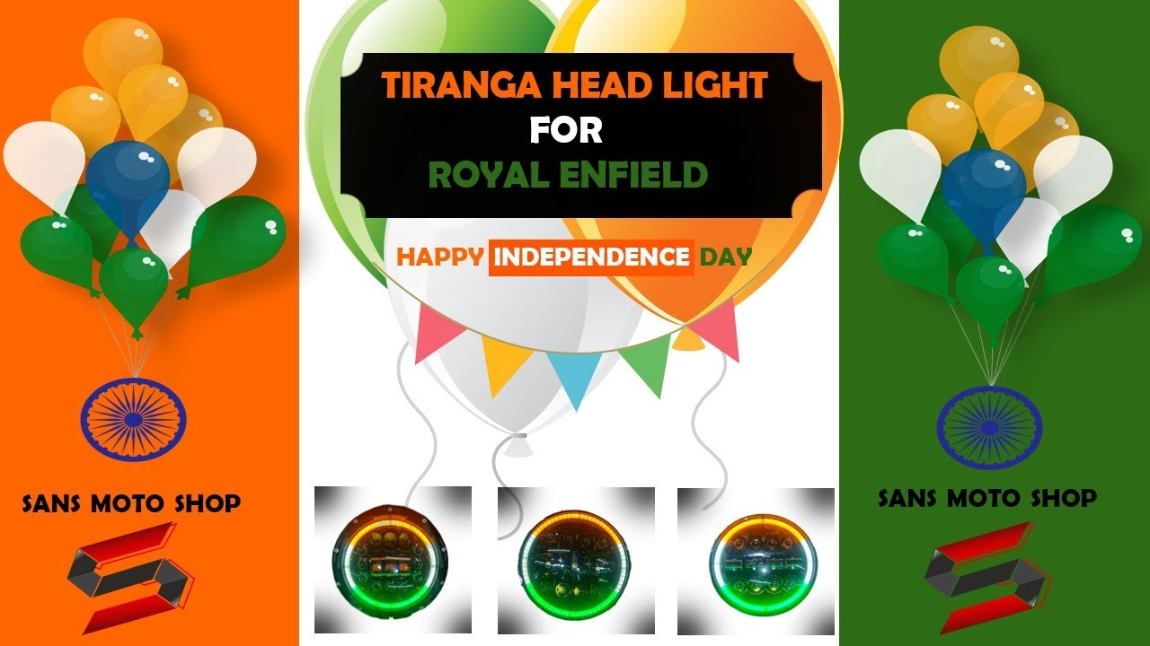 Tiranga Lights For Royal Enfield|Tricolor on Independence day|Offer  zone|Sans motoshop