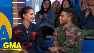 Download The stars of 'Aladdin' talk about working with Will Smith l GMA Mp3 and Videos
