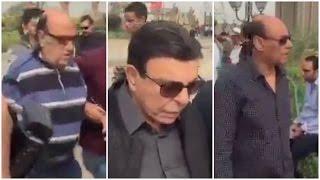 «حسن حسني وأحمد بدير وسمير صبري» في جنازة محمود عبد العزيز