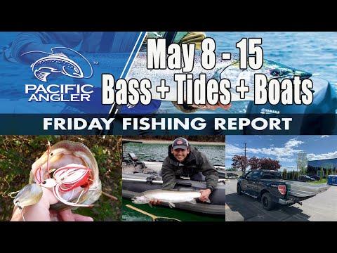 Pacific Angler Vancouver Fishing Report - May 8th, 2020 // Bass Fishing // Tides // Lake Boats