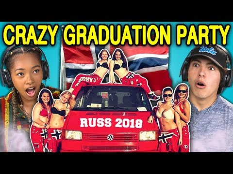 TEENS REACT TO CRAZY NORWEGIAN HIGH SCHOOL GRADUATION PARTIES (Russefeiring)