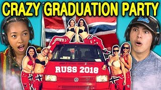 TEENS REACT TO CRAZY NORWAY HIGH SCHOOL GRADUATION PARTIES (Russefeiring) thumbnail