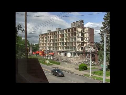 Demolition of the old Sheraton Hotel in Binghamton New York