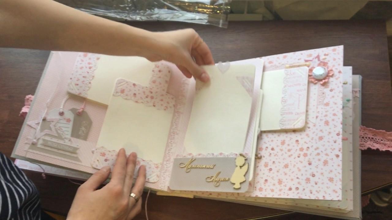 Скрапбукинг: обзор альбома для девочки первого года жизни своими ...