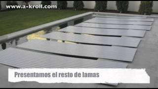Instalación cubierta automática piscina en Madrid