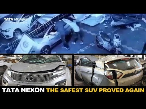 CCTV Footage | Tata Nexon Accident | Safest SUV Of India Proved Once Again