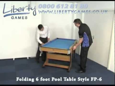 BCE Folding Foot Pool Table Style FP YouTube - Six foot pool table