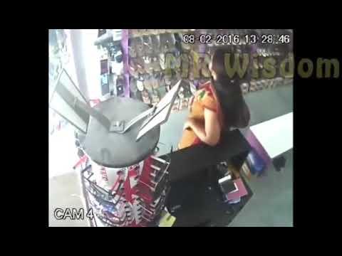 Lady thief trapped at robbing