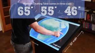Ideum Platform Multitouch Drafting Tables - 4k Ultra Hd