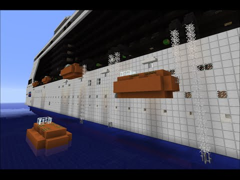 How Cruise Ship Lifeboats Work - Minecraft Demonstration ...