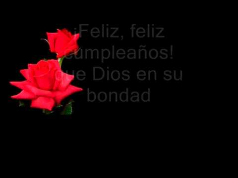 Feliz cumplea os con letra youtube - Feliz cumpleanos letras ...