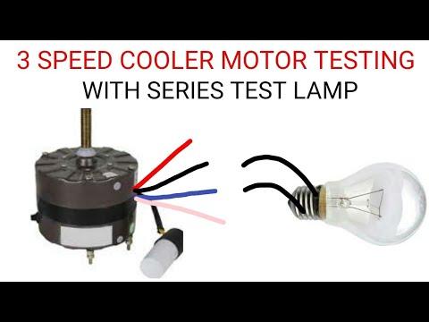 Multi Speed Cooler Motor Testing Youtube
