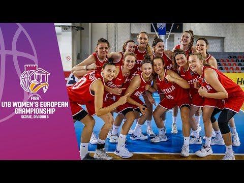 North Macedonia V Austria - Full Game - FIBA U18 Women's European Championship Division B 2019