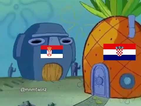 Sundjer Bob Hrvatska vs Srbija / Sponge Bob Croatia vs Serbia