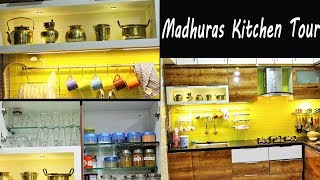 किचन टूर  | Madhuras Kitchen Organization Ideas- Countertop Organization | Kitchen Storage Ideas