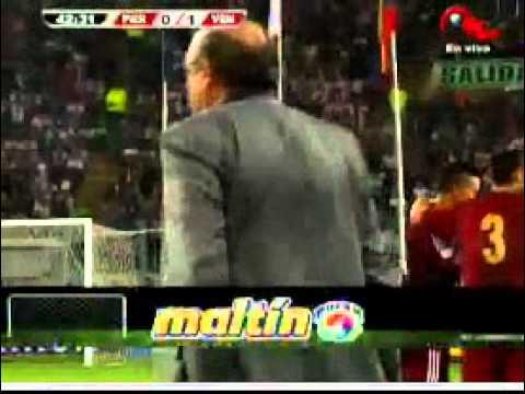 Gol de Arango. Venezuela vs Peru 07/09/2012