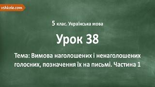 #38 Вимова наголошених і ненаголошених голосних. Частина 1. Відеоурок з української мови 5 клас