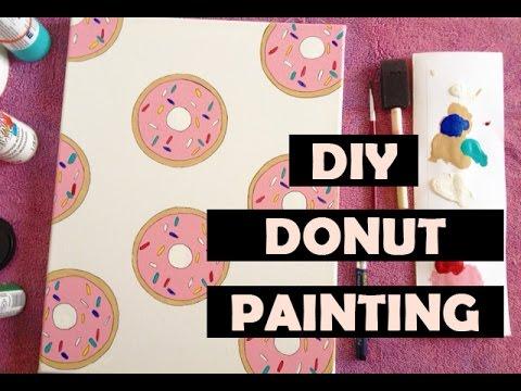Diy Easy Donut Painting Room Decor