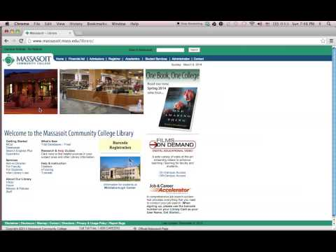 Finding Sources Using the Massasoit Community College Library Website