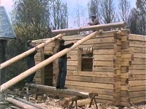 Traditional Finnish Log House Building Process Youtube