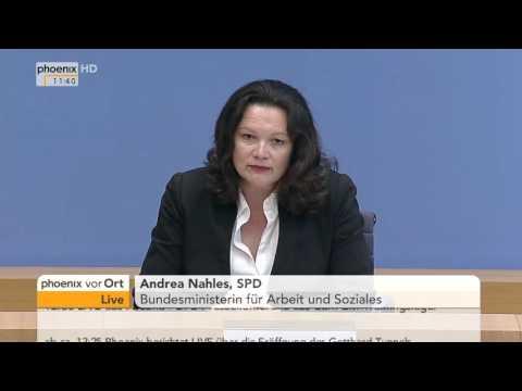 Leiharbeitsgesetz: PK mit Andrea Nahles am 01.06.2016