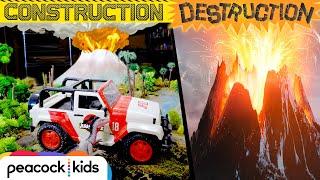 Elephant Toothpaste ERUPTION Destroys Isla Nublar!   JURASSIC WORLD'S CONSTRUCTION DESTRUCTION