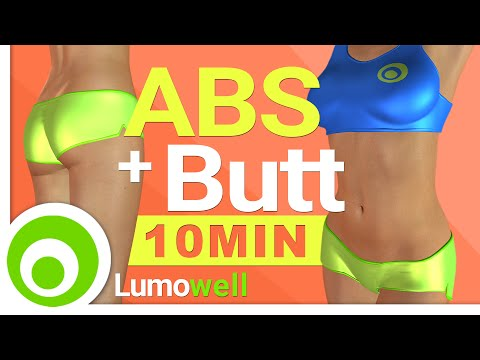 ABS And Butt Workout - 10 Minutes