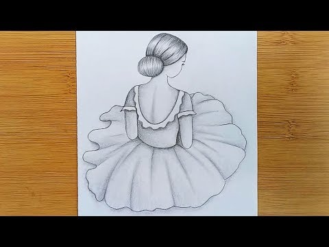 How to draw a girl for beginners with pencil sketch. thumbnail