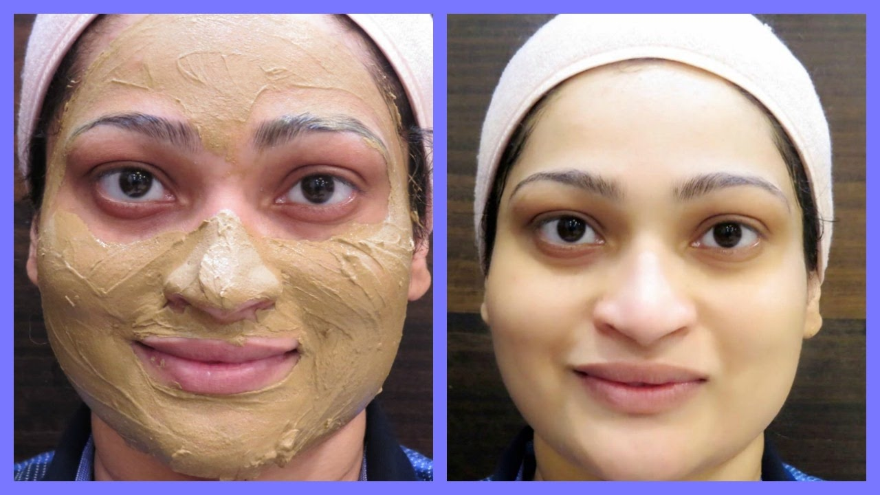 instant skin brightening clay mask to reduce tan , acne scars