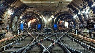 метро тоннель подземелье московского метрополитена / subway tunnel underground Moscow Metro