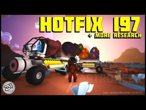 Hotfix 197 !! Research TRAIN !! S7E4 Lets Play Astroneer Update Gameplay Z1 Gaming