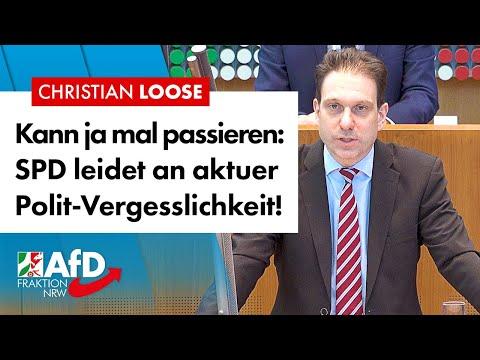 SPD leidet an akuter Polit-Vergesslichkeit! – Christian Loose (AfD)