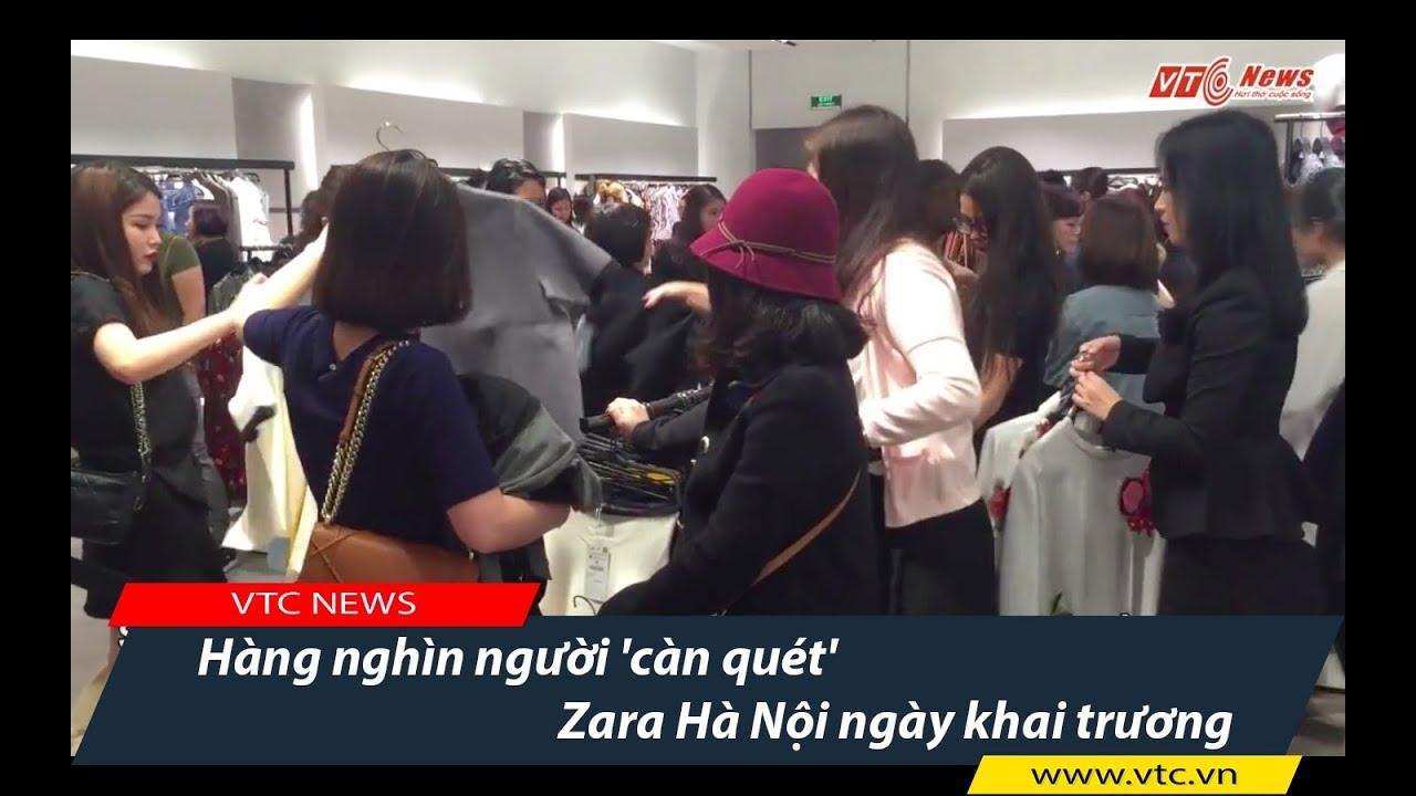 Hàng nghìn người 'càn quét' Zara Hà Nội ngày khai trương