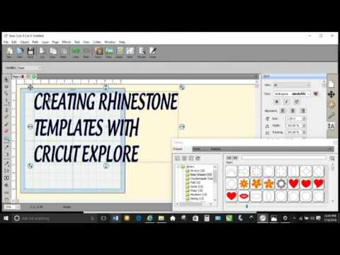 Creating Rhinestone Template Designs With Cricut Explore YouTube - How to make rhinestone templates