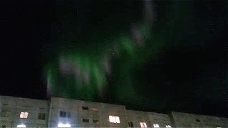 Очередное Северное сияние в Норильске! Завораживающее зрелище!(Очередное Северное сияние в Норильске! Завораживающее зрелище! Автор видео: Ержан Бертаев., 2016-11-25T08:42:41.000Z)