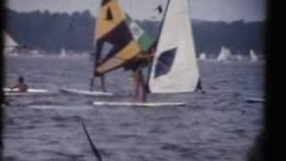 Premier bord en Planche - Lac Léon dans les Landes - 1984