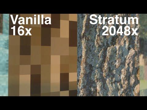 Minecraft Vanilla vs Stratum 2048x Pt 1 Forest [4K/60FPS] - YouTube