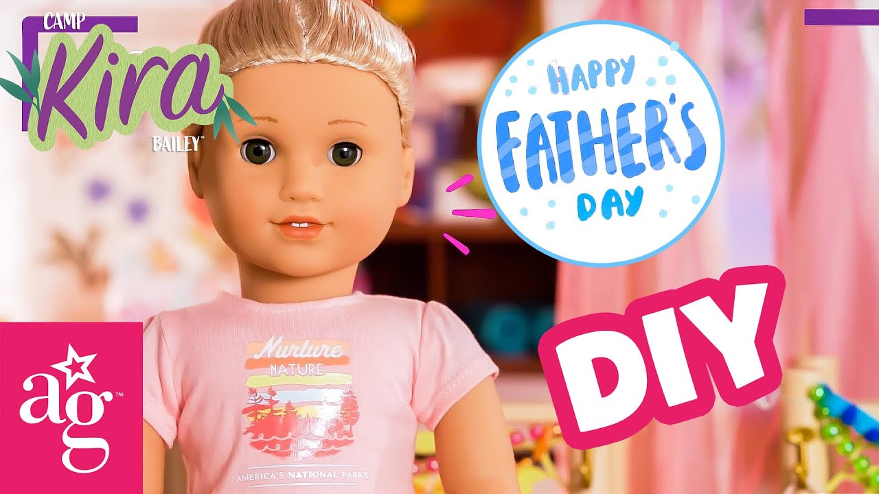 @American Girl Doll Crafts | Father's Day DIY! Mod Podge Photo Art & Wood Coasters | CAMP KIRA