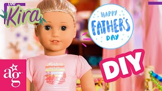 @American Girl Doll Crafts   Father's Day DIY! Mod Podge Photo Art & Wood Coasters   CAMP KIRA
