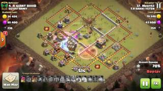 clash of clans the best th11 max bowler | balloons | lavaloon 3 star war bas