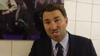 EDDIE HEARN REACTS TO RYAN BURETT UNIFYING DIVISION IN HOME CITY W/ POINTS WIN OVER ZHAKIYANOV