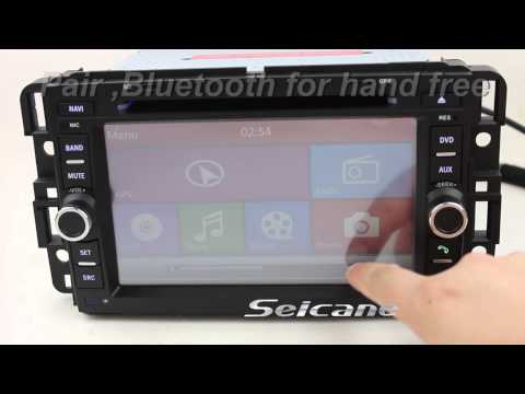 OEM aftermarket GMC sierra  2 din in dash radio dvd bluetooth