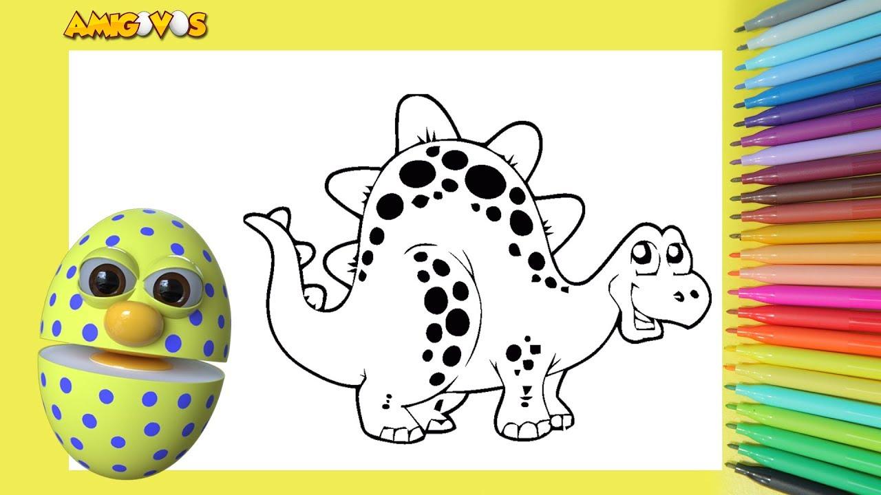 pinturas como desenhar e pintar desenho de dinossauro pintar