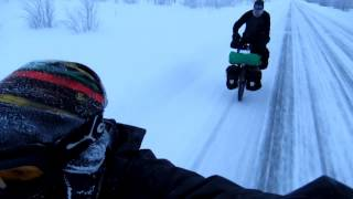 Winter cycling in Lapland