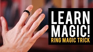 Easy Magic Trick Tutorial! Learn Magic Tricks! Ring Trick!