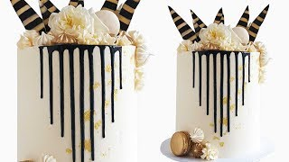 how to make a cake with chocolate drips